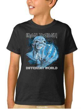 Παιδικό μπλουζάκι με στάμπα Iron Maiden Different World