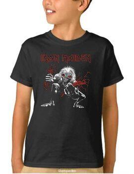 Παιδικό μπλουζάκι με στάμπα Iron Maiden A Real Live Dead One