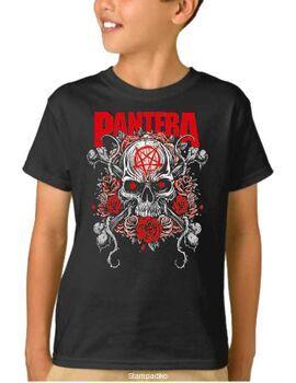 Παιδικό μπλουζάκι με στάμπα Pantera Skull