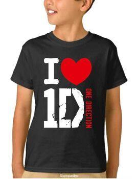 Παιδικό μπλουζάκι με στάμπα I Love One Direction
