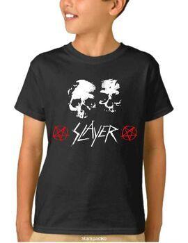 Παιδικό μπλουζάκι με στάμπα Slayer White Skulls
