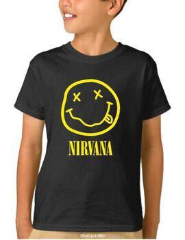 Παιδικό μπλουζάκι με στάμπα Nirvana Smiley Face