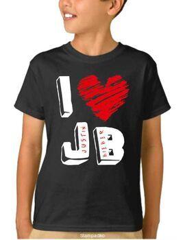 Παιδικό μπλουζάκι με στάμπα I love Justin Bieber