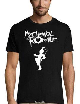 Rock t-shirt Black με στάμπα My Chemical Romance Black Parade T-Shirt