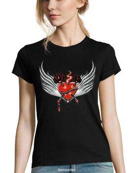 Μπλούζα t-shirt Woman Feather Heart