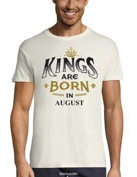 Μπλούζα με στάμπα γενεθλίων Kings are Born In August