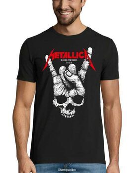 Heavy metal t-shirt με στάμπα Metallica WorldWired Tour
