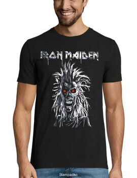 Heavy metal t-shirt με στάμπα Iron Maiden First Album Track list V.3.