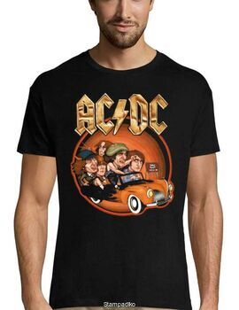 Rock t-shirt με στάμπα AC/DC Back in Business Again