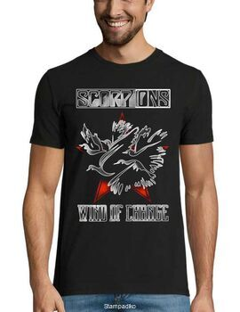 Rock t-shirt με στάμπα Scorpions Wind Of Change