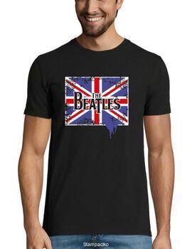 Rock t-shirt με στάμπα The Beatles British Flag