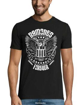 Rock t-shirt με στάμπα Ramones Forever