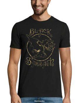 Heavy metal t-shirt με στάμπα Black Sabbath XLV