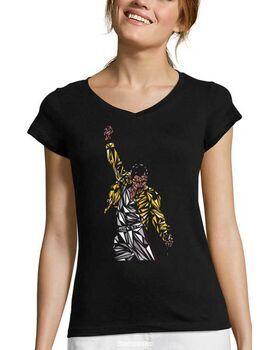 Γυναικείο V Rock t-shirt με στάμπα Queen Freddie Mercury