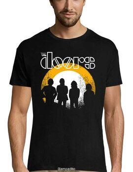 Rock t-shirt με στάμπα The Doors T Shirt Dusk Distressed Band Logo