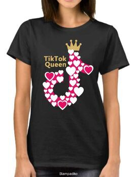 Μπλουζάκι με στάμπα Tik Tok Queen