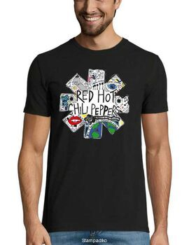 Rock t-shirt με στάμπα Red Hot Chili Peppers New Design