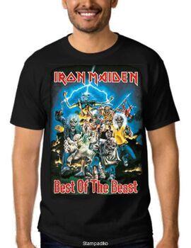 Συλλεκτικό Heavy metal t-shirt με στάμπα Iron Maiden Best of the Beast