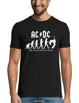 Rock t-shirt με στάμπα AC/DC The Evolution of Rock