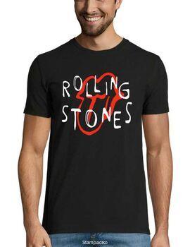 Rock t-shirt με στάμπα Rolling Stones