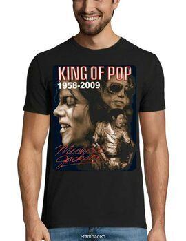 Μπλούζα με στάμπα Michael Jackson Kings of Pop 1958-2009
