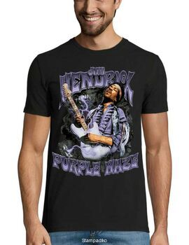 Rock t-shirt με στάμπα Jimi Hendrix Purple Haze
