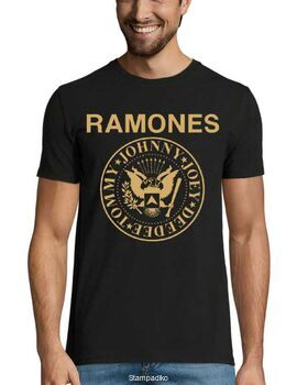 Rock t-shirt με στάμπα Ramones Tommy Johnny Joey Dee dee T-Shirt