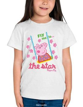 Παιδικό μπλουζάκι με στάμπα Peppa Pig Fly me to...the star