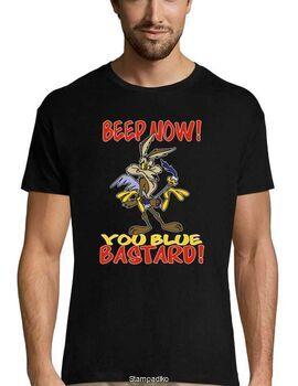 Mπλούζα με στάμπα Beep Now, You Blue Bastard! T-shirt Funny