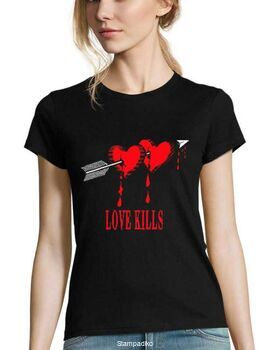 Μπλούζα t-shirt  Woman Love Kills