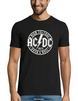 Rock t-shirt με στάμπα AC/DC High Voltage Official Rock n Roll