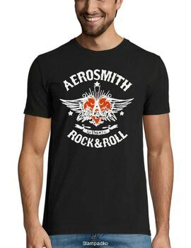 Rock t-shirt με στάμπα Aerosmith Authentic Rock & Roll