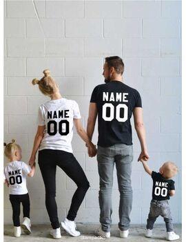 Οικογενειακό σετ με στάμπα Any name, any number, Custom name, Custom number shirt