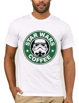 Χιουμοριστικό μπλουζάκι με στάμπα Star Wars Coffee