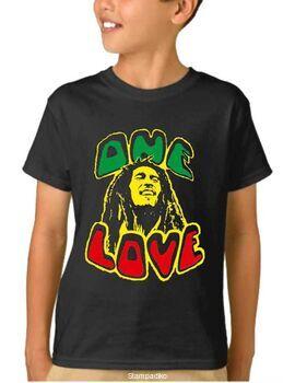 Παιδικό μπλουζάκι με στάμπα Bob Marley One Love