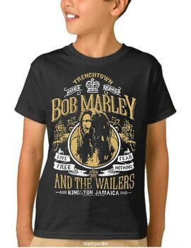 Παιδικό μπλουζάκι με στάμπα συγκροτήματος Bob Marley and The Wailers