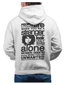 Μπλούζα Φούτερ με κουκούλα The Doors Band Hoodie, The Doors Collage Hooded Sweatshirt, Rock Merch