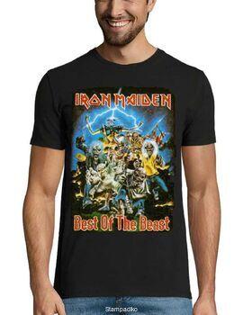 Heavy metal t-shirt με στάμπα Iron Maiden Best of the Beast