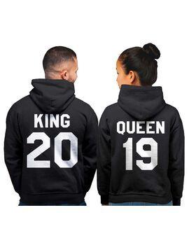 King and Queen Hoodie, King Queen Hoodie, King Queen Sweaters, Custom Numer, Couples Hoodie, Couple Sweaters, Custom Hoodie, King And Queen