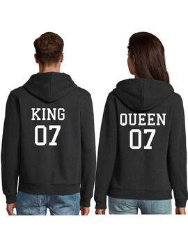 Μπλούζες φούτερ με κουκούλα Hoodies King 07 and Queen 07