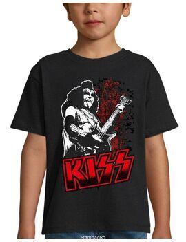 Παιδικό μπλουζάκι με στάμπα Kiss Gene Simmons Guitar