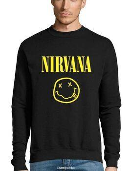 Μπλούζα Φούτερ με στάμπα Nirvana Smiley Face
