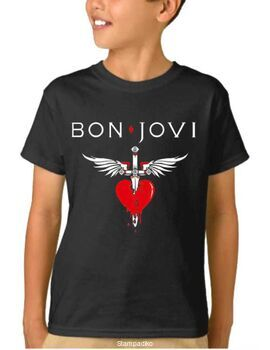 Παιδικό μπλουζάκι με στάμπα συγκροτήματος Bon Jovi