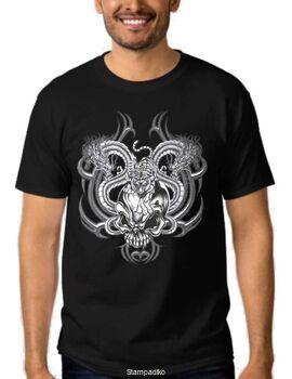 Μπλούζα t-shirt Dragon Tiger Skull