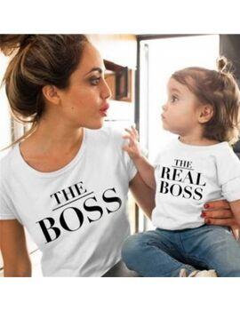 Μπλουζάκια Mommy & baby set The Boss The Real Boss