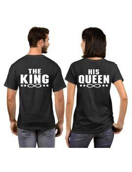 Μπλουζάκια με στάμπα The King His Queen,The king his queen (η τιμή είναι και για τα δυο μπλουζάκια)