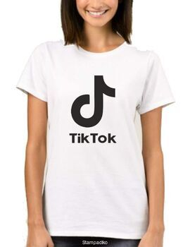 Μπλούζα t-shirt unisex με στάμπα Tik Tok