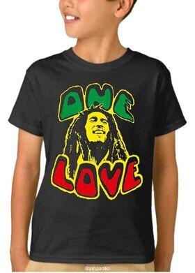 Παιδικό μπλουζάκι με στάμπα συγκροτήματος Bob Marley One Love