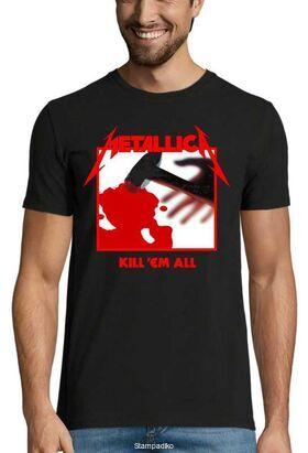 Heavy metal t-shirt με στάμπα Metallica Kill Em All Tracks