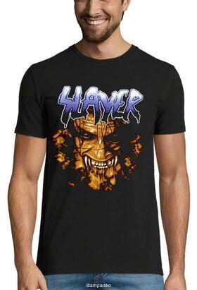 Heavy metal t-shirt με στάμπα Slayer